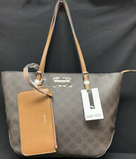Nine West - Tote Shopper Bag Society Girl Brown + Wristlet Pouch NWT