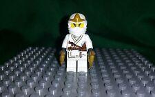 Lego Geniune Ninjago- Zane ZX white ninja minifigure minifig (9449) EUC collect