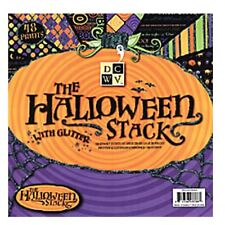 """DCWV The Halloween Stack 48 sheets 12"""" x 12"""" Paper Printed & Glittered Cardstock"""