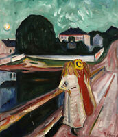 Edvard Munch Girls On The Pier Wall Art Print CANVAS Painting Home Decor Small