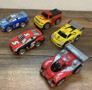 Lot of 5 Shake N Go Cars Race Car Truck Mattel 2005 2007