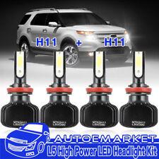4PCS H11 H16 LED Headlight Low Beam+Fog Light Bulbs for 2007-2014 Toyota Camry