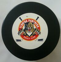 FLORIDA PANTHERS NHL VINTAGE TRENCH MFG. OFFICIAL HOCKEY PUCK MADE IN SLOVAKIA