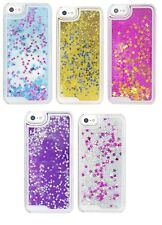 Liquid Glitter Water Stars Bling Sparkly Back Case For Various Apple iPhone