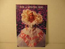 Vintage Barbie Valentine's Day Greeting Card for a Special Girl, 1994 Hallmark