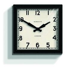NEWGATE CLOCKS Quad Large Square Metal Wall Clock Black Industrial Kitchen 40cm