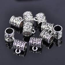 20pcs 9x7mm Mug Shape Tibetan Silver Metal European Charms Loose Big Hole Beads