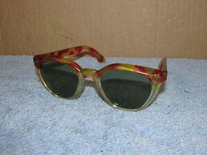 Vtg WILLSON Sunglasses/Glasses/Safety/Tortoiseshell/Hippie/Punk/Rockabilly J582