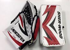 SPECIAL New ice hockey goalie blocker/catcher senior Sr goal glove set red/black