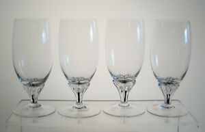 """EXQUISITE BOHEMIA BELFOR Footed Juice Glasses 5 1/8"""" SET OF 4, Multi Sets Avail"""