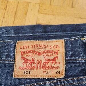 #Vintage# LEVI's Original Jeans Hose Denim 501 W34 L34 mittel blau, Klassiker