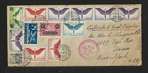 ZEPPELIN SWITZERLAND TO USA AIR MAIL COVER 1930