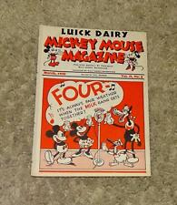 """DISNEY1935 DAIRY PROMOTIONAL""""MICKEY MOUSE MAGAZINE""""MARCH,VOL.II, NO.5-EXCELLENT!"""