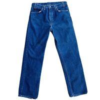 Levi's 509 Vintage Dark Blue Denim Jeans 34  32 Spots Stains Flaws orange tag