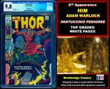 💎 THOR 163 CGC 9.8 PEDIGREE WHITE PAGES 👀 165 & FANTASTIC FOUR 67 FANS 2nd HIM