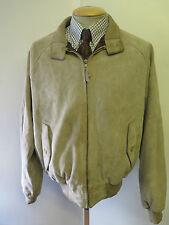 "POLO Ralph Lauren Zipped Suede Harrington Jacket L 42-44"" Euro 52-54 - Brown"