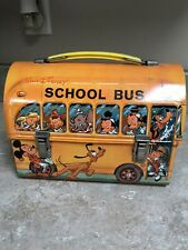 Disney School Bus Lunch Box Aladdin 1961 No Thermos But Mint Condition!