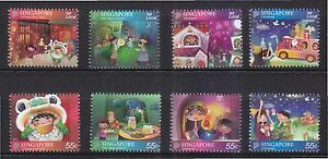 SINGAPORE 2012 FESTIVALS OF SINGAPORE COMP. SET OF 8 STAMPS IN MINT MNH UNUSED