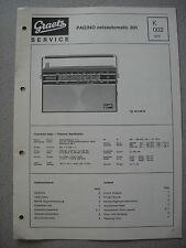 ITT/GRAETZ Pagino Netzautomatic 301 Service Manual