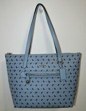 NWT COACH Cornflower Butterfly Print Pebbled Leather Taylor Tote Purse Bag 67364