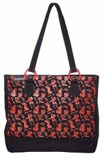 Sourpuss Bettie Page Tote Bag - Rockabilly, Retro, Pin-up, Roller Derby