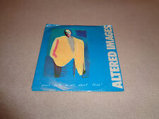 "Altered Images ‎– Don't Talk to Me About Love - Portrait 7"" Vinyl 45 - Promo NM-"
