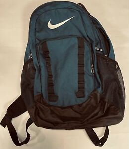 Nike Blue Green Backpack, excellent condition, many pockets, zippers