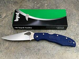 Spyderco Byrd Cara Cara 2 Folding Knife BY03PBL2 Blue FRN Handle