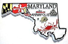 Maryland 4 Color State Souvenir Fridge Magnet