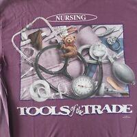 NEW Nurse shirt RN LPN CNA Nursing Tools of the Trade purple Gift for Nurses