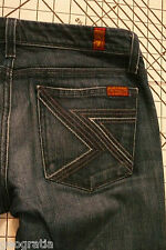 7 For All Mankind Flynt New York Dark Multicolor (NMUL) Wash Jeans Size 27 x 35
