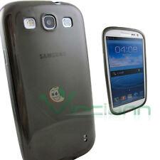 Pellicola+Custodia PERFECT FIT p Samsung Galaxy S3 i9300 Neo i9301 soft grey TPU