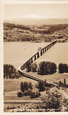 Postcard Rppc Interstate Span Hood River White Salmon Bridge aerial view unused