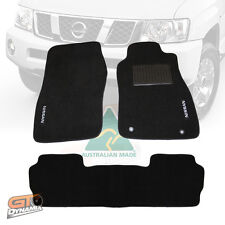 NISSAN PATROL GU Y61 Black Custom Made Floor Mats FRONT & REAR 10/2004-17 Ti ST