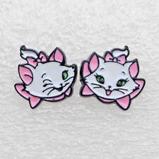 ARISTOCATS Marie Cat Enamel Mismatched Stud Earrings~Cute Gift for Disney Fan