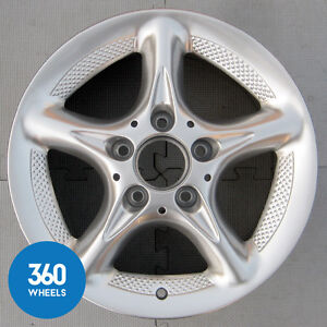 "1 x NEW GENUINE MERCEDES W202 C CLASS 15"" 7J 5 SPOKE ALLOY WHEEL B66470502"