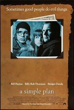 A SIMPLE PLAN - 27x40 D/S Original Movie Poster One Sheet Billy Bob Thorton