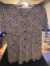 Zara Girls Leopard Animal Print Dress Age 10 Excellent Condition