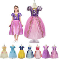Girls Fancy Princess Costume Belle Cinderella Birthday Halloween Party Dress Up
