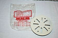 """HICO # 3300 5"""" Cover Fits 4"""" Soil Pipe Floor Drain Cover WHITE Snap In"""