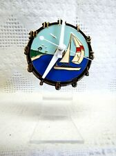 "Sail Boat (4"") Dial Desk Clock (Battery Operated)"