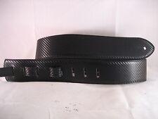 LEATHER BLACK CARBON FIBRE BASS, ACOUSTIC GUITAR STRAP