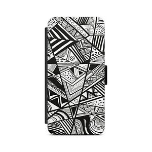 Modern Abstract Graphic Pattern  Flip Wallet Phone Case