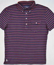 Ralph Lauren Chest Pocket Striped Interlock Knit Shirt Size S & M NWT