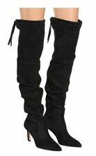NEW Stuart Weitzman Natalia Stretch Suede Over Knee Boots Black OTK 8