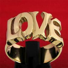 THE WORD LOVE INITIAL RING - 3 MICRON 18K GOLD PLATING