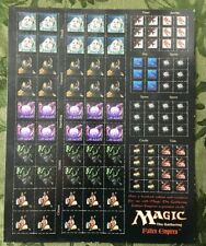 MTG Over a Hundred Fallen Empires Unpunched Token /  Counter Sheet