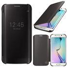 Etui Coque Housse Clear Case View Smart Cover Samsung Galaxy S6 edge SM-G925