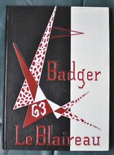 Le Blaireau Badger HS 1963 Yearbook