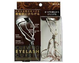New Koji Carving Eyelash Curler Makeup all eye shapes with protective case Japan